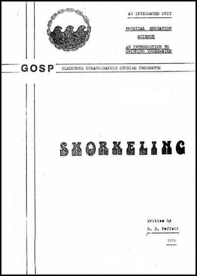 1979 GOSP Snorkelling classroom notes