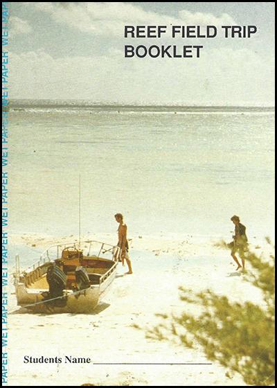 1989 Wet Paper Reef Field Trip Students Booklet