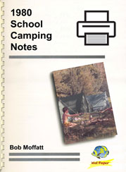 Free: 1980 School Camping Notes
